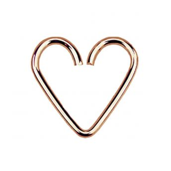 Rose Gold Plated Sterling Silver Daith Heart 1mm x12mm (5)
