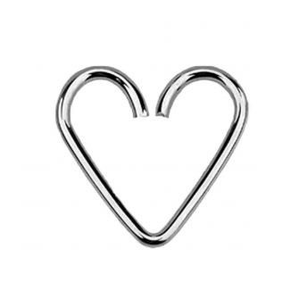 Sterling Silver Daith Heart 1mm x 12mm (5)