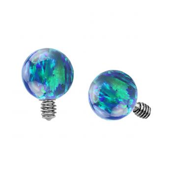 Dermal Top Dark Green Opal Ball (5) 1.2mm