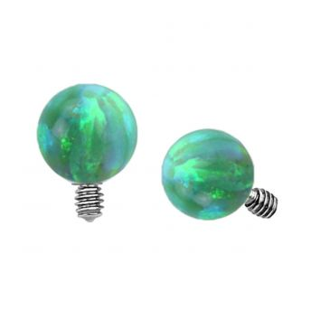 Dermal Top Green Opal Ball (5) 1.2mm