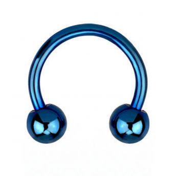 ANODISED Titanium Circular Barbell Blue (5) 1.6x8mm