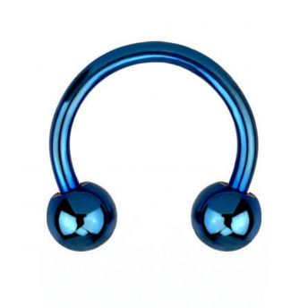 ANODISED Titanium Circular Barbell Blue (5) 1.6x10mm