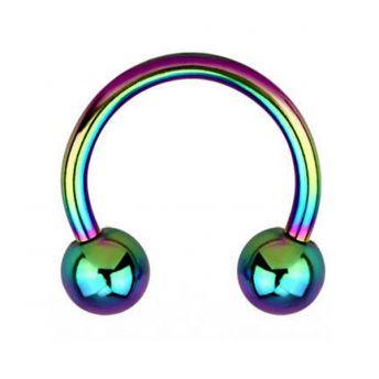 ANODISED Titanium Circular Barbell Rainbow (5) 1.6x8mm