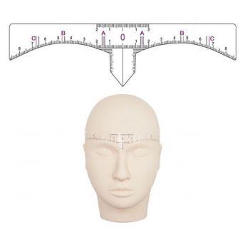 Disposable Plastic Adhesive Eyebrow Ruler 50