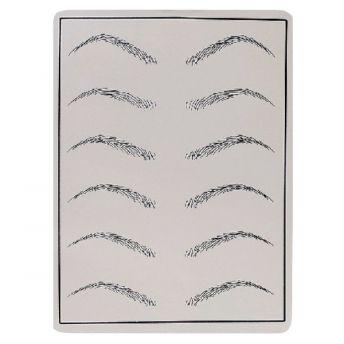 Printed Practice Skin 12 Eyebrows