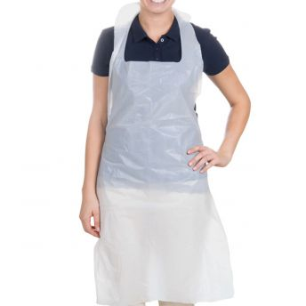 Apron White Embossed (100)
