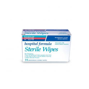 Sterile Saline Wipes 24