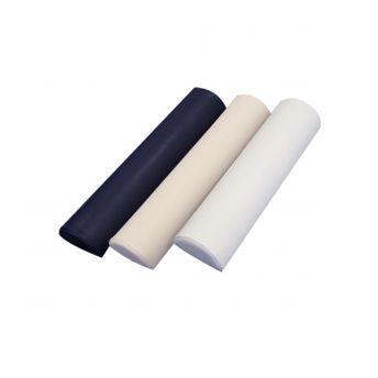 Half Round Jumbo Bolster White