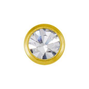 Studex Mini April Crystal Bezel Gold Plated (12)