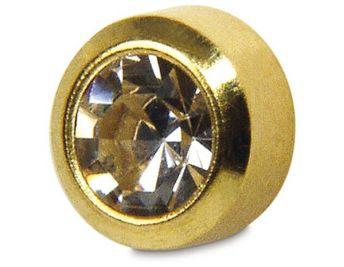 Studex Regular April Crystal Bezel Gold Plated (12)