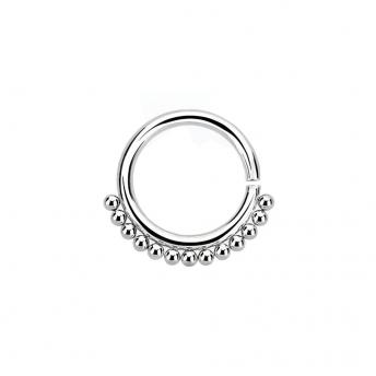 Annealed Stainless Beaded Septum Ring 1.2mm - Plain
