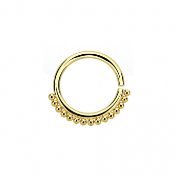 Annealed Stainless Beaded Septum Ring 1.2mm - Gold