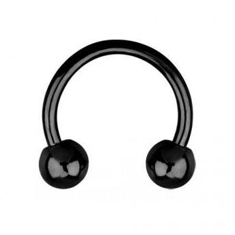 Titanium Circular Barbells 1.6mm - Black
