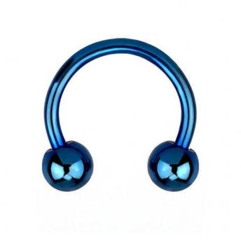 Titanium Circular Barbells 1.6mm - Blue