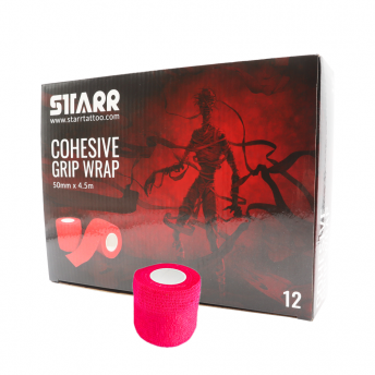 Starr Cohesive Grip Wrap NEON PINK 50mm