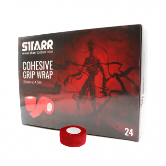 Starr Cohesive Grip Wrap RED 25mm