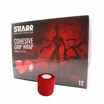 Starr Cohesive Grip Wrap RED 50mm