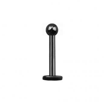 Titanium Labret Stud 1.2mm - Black