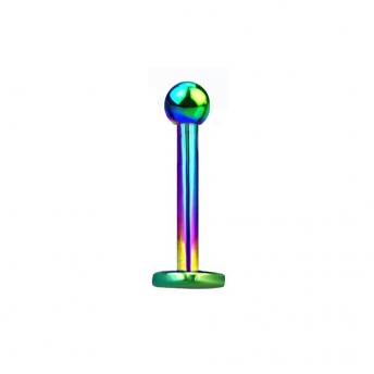 Titanium Labret Stud 1.2mm - Rainbow