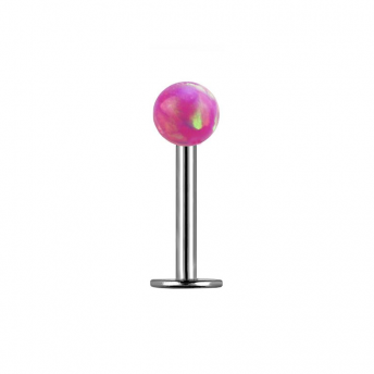 Opal Titanium Labret Studs 1.2mm - Pink