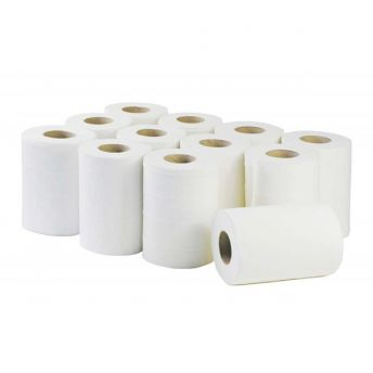 MINI Centrefeed Roll WHITE Bulk 12 Pack 2 Ply (60m)