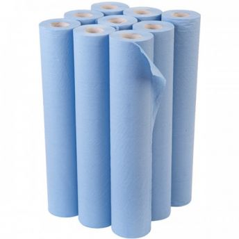 Couch Roll BLUE Bulk 9 pack 48cmx46m