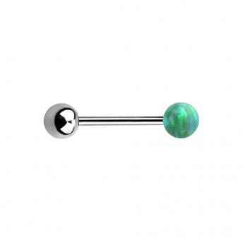 Single Opal Titanium Barbells 1.6mm - Green