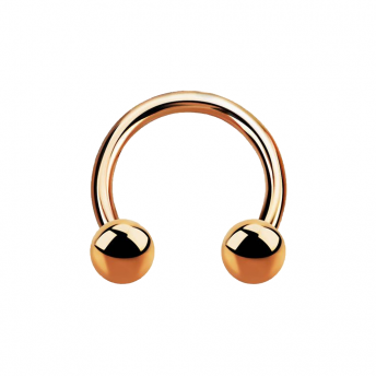 Stainless Circular Barbells 1.2mm - Rose Gold