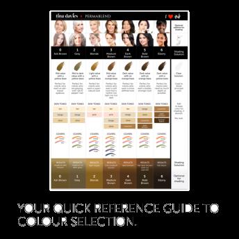 Tina Davies Eyebrow Colour Pigment Chart
