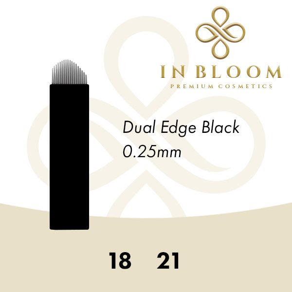 In Bloom Microblading 18 Dual Edge Needle 50